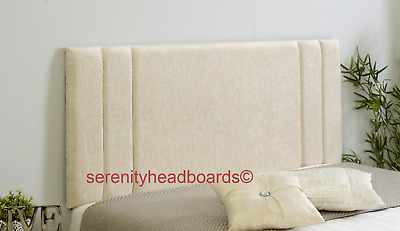 "!!excellent Rio *chenille Headboard* All Sizes & Colours In 22"" & 26"" Heights!!"