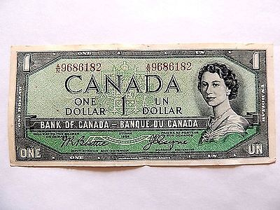 1954 Canada One ($1) Dollar Note.