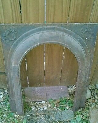 Vtg Architectural Salvage Fireplace Mantel Insert Cast Iron Arch