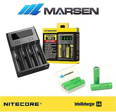 All New Nitecore i4 Charger with Samsung INR18650-25R 20A Lithium batteries