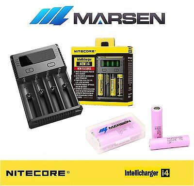 All New Nitecore i4 Charger with Samsung INR18650-30Q 3000mA Lithium batteries