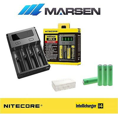 All New Nitecore i4 Charger with Sony US 18650 VTC4 30A  Lithium batteries