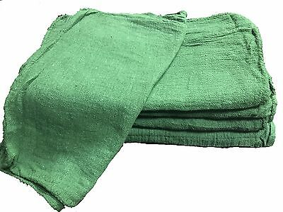 500 NEW INDUSTRIAL COMMERCIAL SHOP RAGS / CLEANING TOWELS GREEN 14x14
