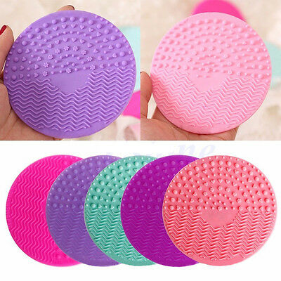 Cosmetic Silicone Washing Scrubber Board Cleaning Mat Pad Makeup Brush Cleaners