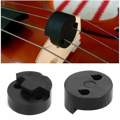 Black Acoustic Rubber Violin Mute Fiddle Silencer For Violin Sourdine Tools 1Pc