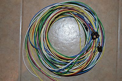 Lot of 10 belden 179 dt 4.5ghz shielded 25ft, end terminated multi-colors cable