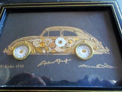 Horological Collage of VW .KAFER 1938 / /VOLKSWAGON / WATCH PARTS CRAFT/KAFER