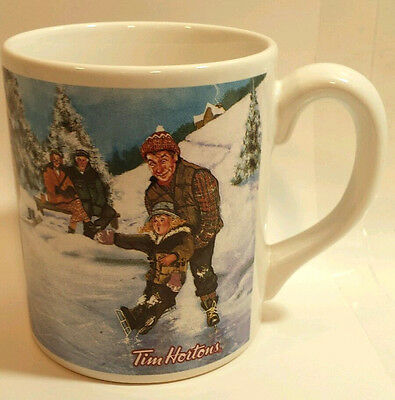 Tim Hortons Coffee Mug Limited Edition Collectable #003 Skating Pond Hockey