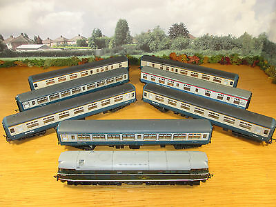 38Fp Airfix 1975 British Rail Electric Engine & 7 Inter City Coaches Lima Hornby