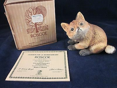 ROGER BROWN 1979 ROSCOE Baby Red Fox Kit Porcelain Figurine ~ NEW in BOX