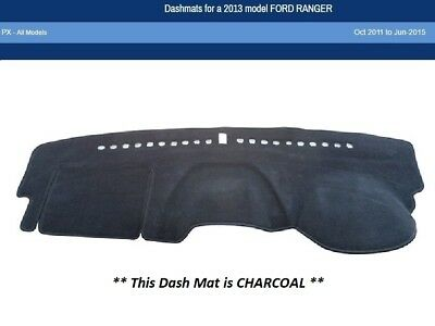 Dash Mat Moulded Charcoal for Ford Ranger PX 10/11 to 06/15 Dashmat Lifetime Wty