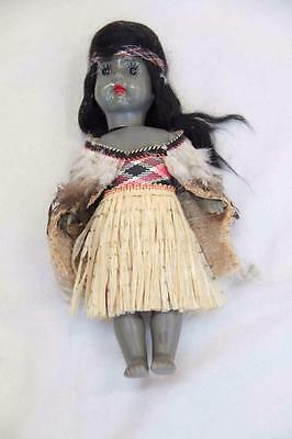 Vintage 12 inch Doll in Maori costume New Zealand #10754