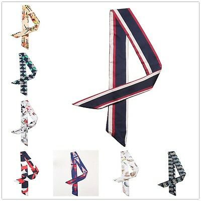 20 Styles Woman's 100% Silk Colorful Long Thin Scarf Wrap Belt Free Shipping