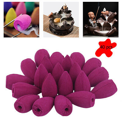 40pcs Bullet Backflow Incenses Sandalwood Tower Incense Household Perfume JJ