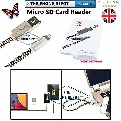 USB i-Flash Drive Memory Stick Microsd SD Card Reader Data Cable for iPhone ipad