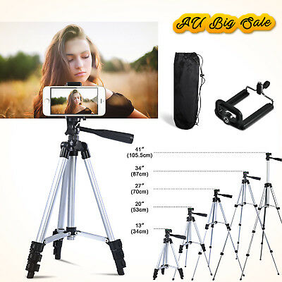 Pro Camera Lightweight Tripod Stand+ Mobile Phone Holder For Nikon Canon Iphone