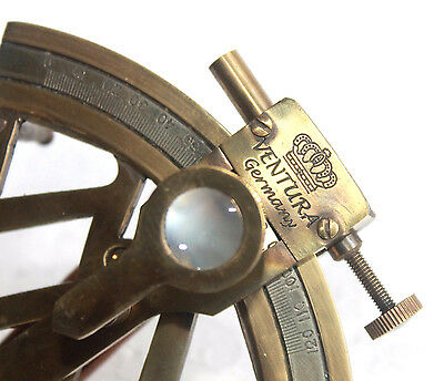 "4"" Handmade Vintage Brass Sextant Nautical Maritime Ships Instrument Gift Item."