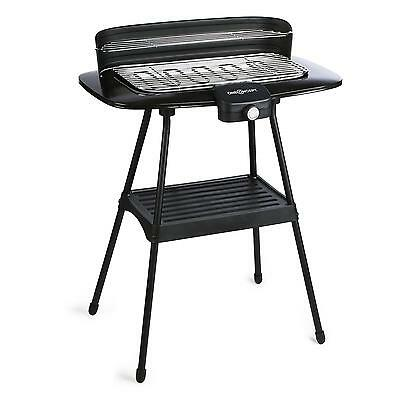 Oneconcept Xxl Electric Grill Stand Bbq Table 2200 W Free Standing Smoke Free