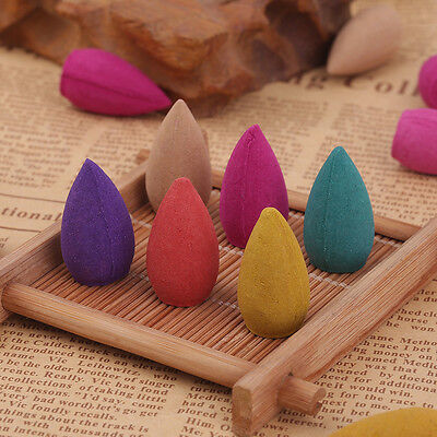 40X Natural Bullet Sandalwood Fragrance Incense Backflow Cones Tower Buddhism XC
