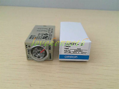 1/5 pc 12/24VDC 110/220VAC H3Y-2 0-5/10/30/60s Delay Timer 8 Pin Time Relay 5A