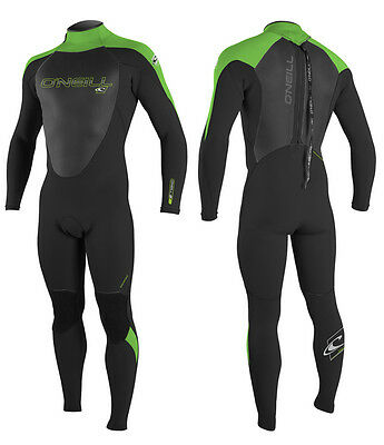 O'Neill Epic Mens 3/2mm Summer Wetsuit 2017 - Black/ Dayglo