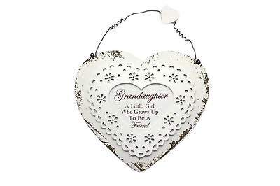 Plaque Grandaughter A Little Girl Who Grows Up To Be A Friend Sign 21cm F1444C