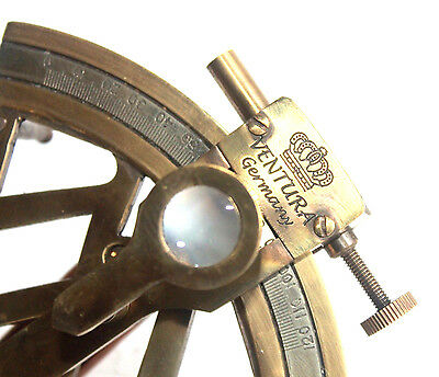 """Solid Brass Collectible Sextant 4"""" Maritime Antique Ship Astrolabe Gitf Item ."""