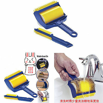 Roller Lint Pet Hair Picker Sticky Remover Cleaner Brush Clothes Suit Buddy