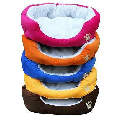 Soft Medium Comfy Washable Dog Cat Pet Warm Basket Bed with Fleece Lining