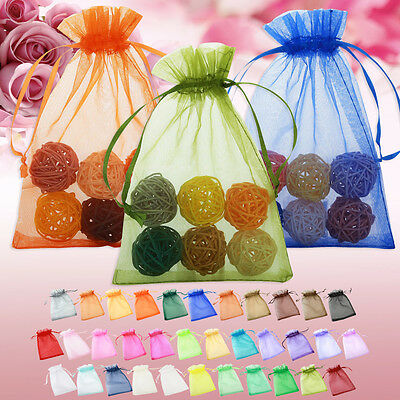 50 pcs New Luxury Organza Wedding Favor Gift Bags Jewellery Pouch Pouches 3 Size
