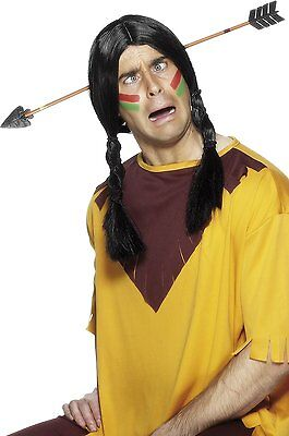 Cowboy Fancy Dress Joke Mock Indian Arrow through the Head New by Smiffys