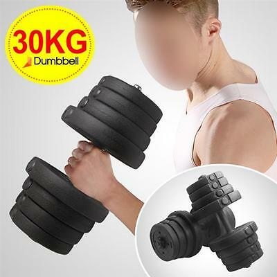 30KG 2X Dumbbell Set Weight Gym Workout Biceps Triceps Free Weights Training