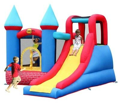 Bouncy Castle and Inflatable Slide - Red Bricks Inflatable Castle - Happy Hop