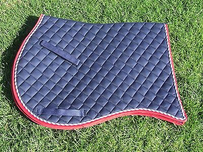 Ecotak Navy and red full size all purpose swallowtail saddlecloth/pad/blanket