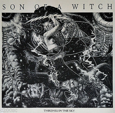SON OF A WITCH - THRONES IN THE SKY, ORG 2016 GERMAN CLEAR vinyl LP, 200 COPIES!