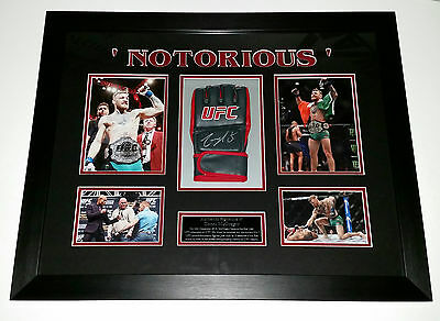 *** RARE CONOR MCGREGOR SIGNED GLOVE Autograph Display ***