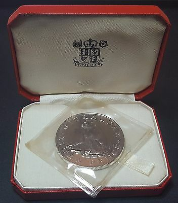 1971 Gibraltar Silver Proof 25 New Pence Coin (B5)
