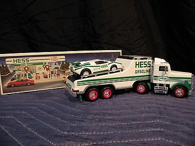 1991 Hess Toy Truck And Racer -- New In Box Free Shipping
