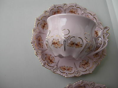 Carlsbad Pink Czech Porcelain Coffee Cup&saucer