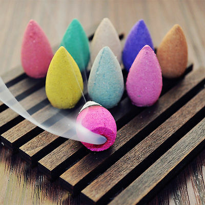40PCS Natural Bullet Sandalwood Fragrance Incense Backflow Cones Tower Buddhism_