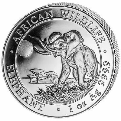 Elephant, Somalia 2016 African Wildlife Series,1oz..999.9 Pure Silver Coin,