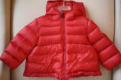 Moncler Baby Coral Red Down Padded Jacket 9-12 Months