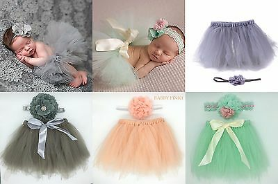 Newborn baby photography props baby cute outfits costume girls tutu 0-1 year old