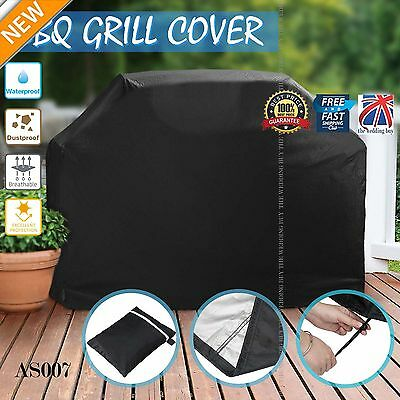 S/L/XL BBQ Cover Heavy Duty Waterproof Rain Barbeque Grill Protector Black AS007