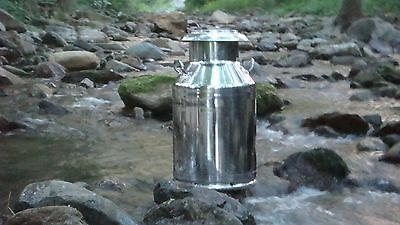 10 Gallon Heavy Duty Stainless Steel Milk Can with Old Fashioned Lid - New