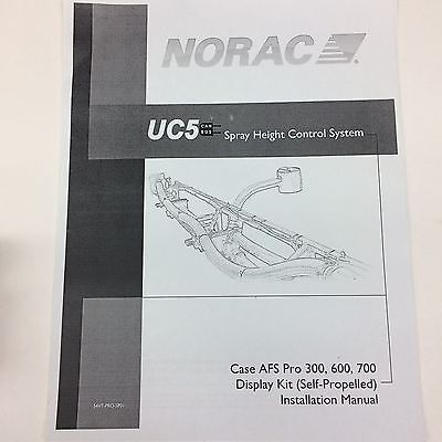 NORAC UC5 CAN BUS Spray Height Display Kit Case AFS Pro 300, 600, 700 Part #54VT