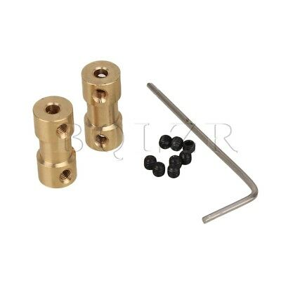 2pcs RC Airplane 3.17mm-3mm Brass Joint Motor Shaft Coupling Coupler Connector