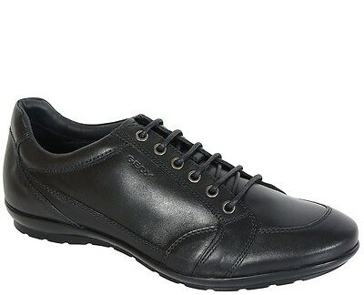 GEOX SYMBOL A smooth leather.black sneakers SALE u34a5d00043c9999