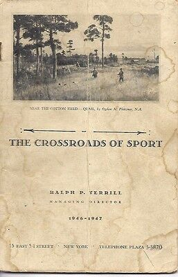 "The Crossroads Of Sports Catalog  1946-47   9""x 6""  (Very Rare)"