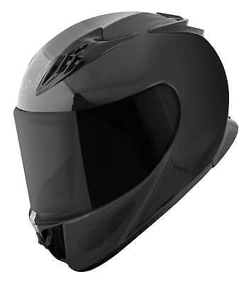Speed & Strength SS3000 Solid Speed Full Face Black Motorcycle Helmet All Sizes